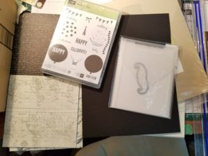 basic black, very vanilla, going places dsp, mustache framelit, celebrate today stampin up